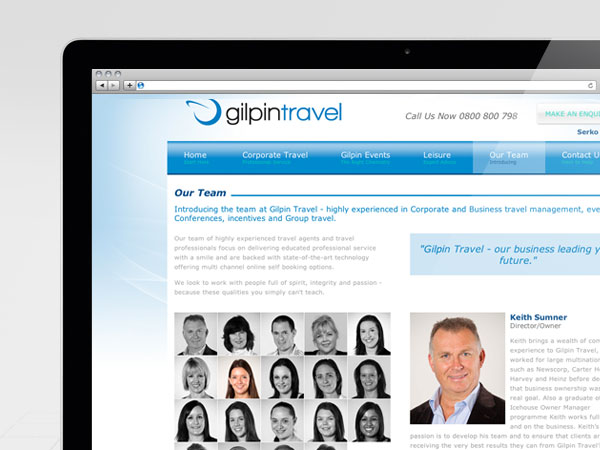 Gilpin Travel Website