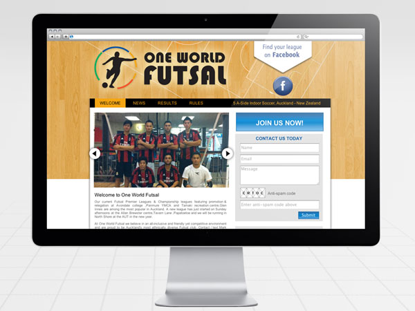 One World Futsal Website